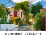 street of anafiotika in the old ...   Shutterstock . vector #785031445