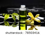 bottle of essential oil and...   Shutterstock . vector #78503416