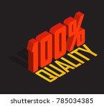 100  percent  3d  isometric... | Shutterstock .eps vector #785034385