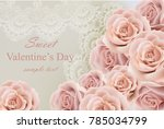 valentine day card with... | Shutterstock .eps vector #785034799