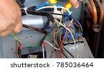 hvac system concept.the man...   Shutterstock . vector #785036464