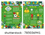 football sport game poster with ... | Shutterstock .eps vector #785036941
