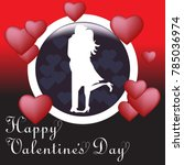 valentine's day background with ... | Shutterstock .eps vector #785036974