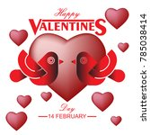 valentine's day background with ...   Shutterstock .eps vector #785038414