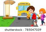 back to school. vector... | Shutterstock . vector #785047039