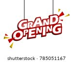 red and yellow tag grand opening | Shutterstock .eps vector #785051167