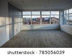 wooden floor and windows shadow ... | Shutterstock . vector #785056039