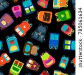 schoolbags and school backpacks ...   Shutterstock . vector #785061634