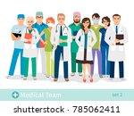 hospital or medical lab staff... | Shutterstock . vector #785062411
