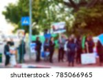 blurred protesting crowd | Shutterstock . vector #785066965