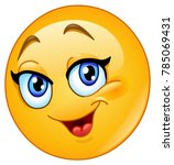 happy female emoticon | Shutterstock .eps vector #785069431
