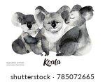 australian animals watercolor... | Shutterstock . vector #785072665
