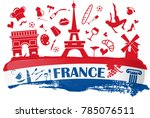 franch holiday banner with... | Shutterstock .eps vector #785076511
