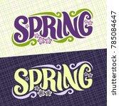 vector banners for spring... | Shutterstock .eps vector #785084647