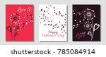 romantic dandelion flowers... | Shutterstock .eps vector #785084914