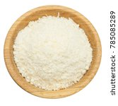 grated parmesan cheese in... | Shutterstock . vector #785085289