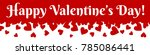 valentines day horizontal web... | Shutterstock .eps vector #785086441