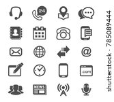 contact us and web icons vector. | Shutterstock .eps vector #785089444