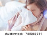 get well soon. unhealthy kid... | Shutterstock . vector #785089954