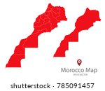 couple set map red map of... | Shutterstock .eps vector #785091457