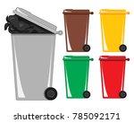 an illustration of a gray... | Shutterstock . vector #785092171