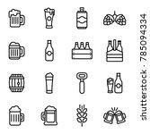 beer related vector icons. beer ... | Shutterstock .eps vector #785094334