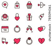 valentine icon set. happy... | Shutterstock .eps vector #785094361