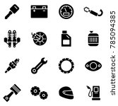 motorcycle parts vector icons....   Shutterstock .eps vector #785094385