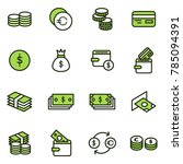 money related vector icons.... | Shutterstock .eps vector #785094391