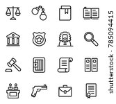 law and justice icons... | Shutterstock .eps vector #785094415