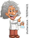 smart professor genius... | Shutterstock .eps vector #785094631