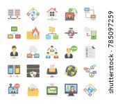 cloud computing vector icons... | Shutterstock .eps vector #785097259