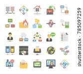 cloud computing vector icons... | Shutterstock .eps vector #785097259