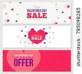 creative vector banner design... | Shutterstock .eps vector #785098285