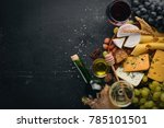 Assortment Of Cheeses  A Bottl...