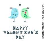 "hand lettering ""happy valentine'... | Shutterstock .eps vector #785102944"