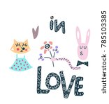 """hand lettering """"in love"""" and... 