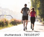 urban sports  healthy young... | Shutterstock . vector #785105197