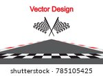 checkered racing flag isolated... | Shutterstock .eps vector #785105425
