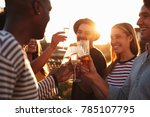 friends making a toast at a... | Shutterstock . vector #785107795