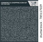 shopping and commerce icon set | Shutterstock .eps vector #785117029