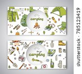 card templates of hand drawn... | Shutterstock .eps vector #785123419