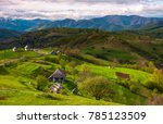 mountainous rural area in... | Shutterstock . vector #785123509