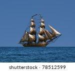 Sailing Ship  Under Full Sail ...