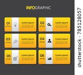infographics design template 3d ... | Shutterstock .eps vector #785128057
