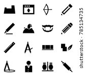 origami style icon set   potty... | Shutterstock .eps vector #785134735