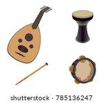 set of arabic oriental musical...   Shutterstock .eps vector #785136247