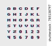 3d effect 8 bit alphabet letter ...   Shutterstock .eps vector #785138797