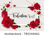 valentine's day greeting card... | Shutterstock .eps vector #785144461