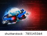 3d rendering computer network | Shutterstock . vector #785145364